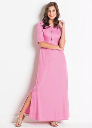 6b0376ead3 produto Vestido Longo Rosa Antigo Moda Evangélica