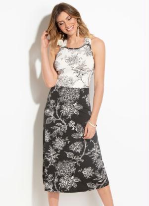 099abf2cf6 produto Quintess - Vestido Quintess Floral com Transpasse Costas