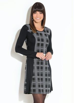 885ecb0e42 produto Quintess - Vestido Quintess Clássico Preto e Branco