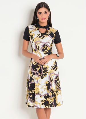 ef8bee7d9 produto Rosalie - Vestido Evasê Moda Evangélica Arabescos