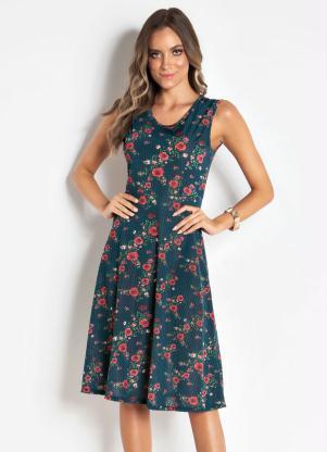 628f23a6ec produto Vestido Floral sem Mangas Moda Evangélica