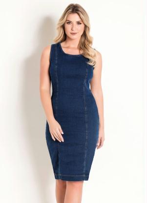 971b180c68 produto Queima Estoque - Vestido sem Mangas Azul Escuro Moda Evangélica