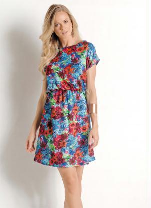 a9bceb08f Queima de Estoque - Vestido com Elástico na Cintura Floral - Queima ...