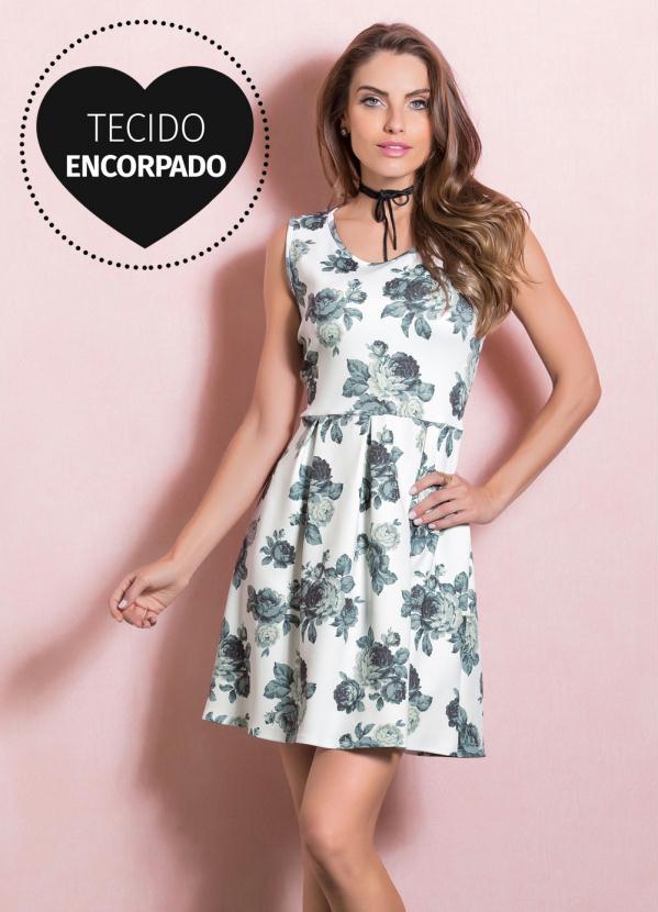 f26954413a57 Quintess - Vestido Floral Quintess Rodado - Quintess