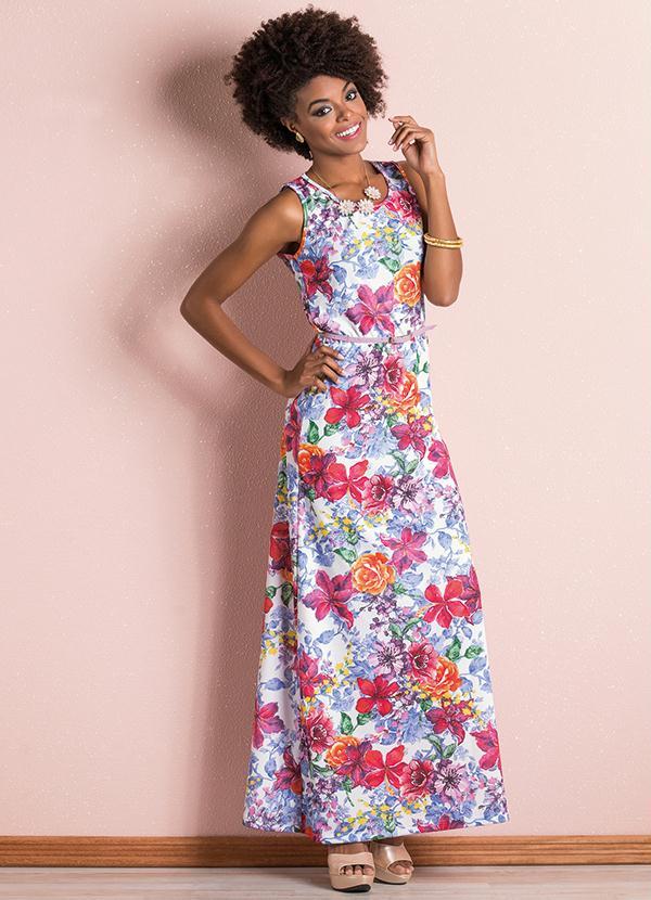 c6d4abc48 Vestido Longo Floral - Queima de Estoque