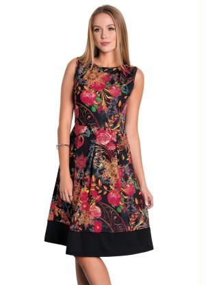 66eb1c8a37 produto Vestido com Recorte Floral Moda Evangélica