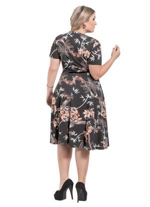 61e989172d9a58 produto Rosalie - Vestido Decote Redondo Moda Evangélica Estampado