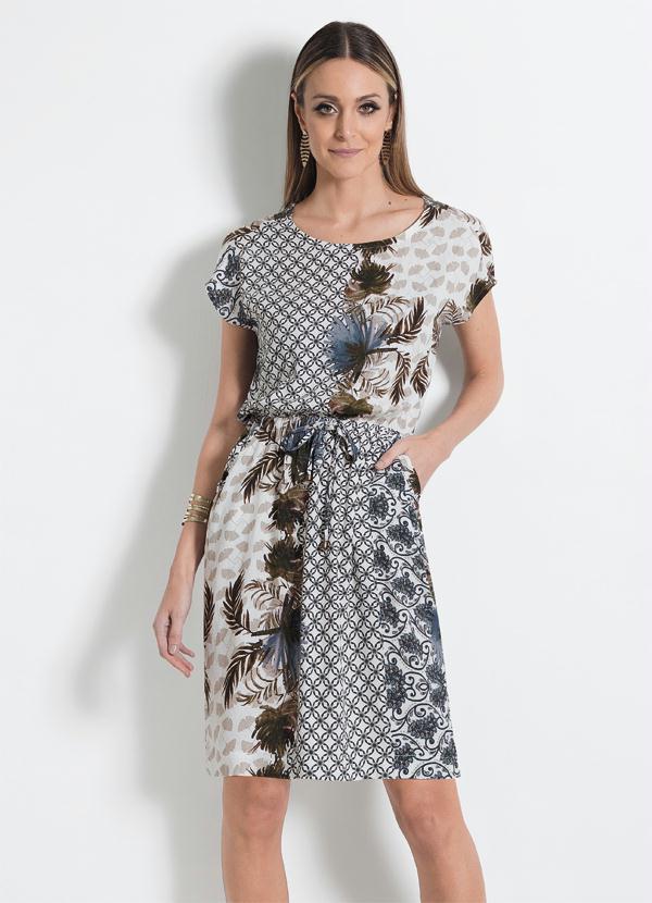 e40bf1851c Vestido com Bolsos Mink Estampado - Mink