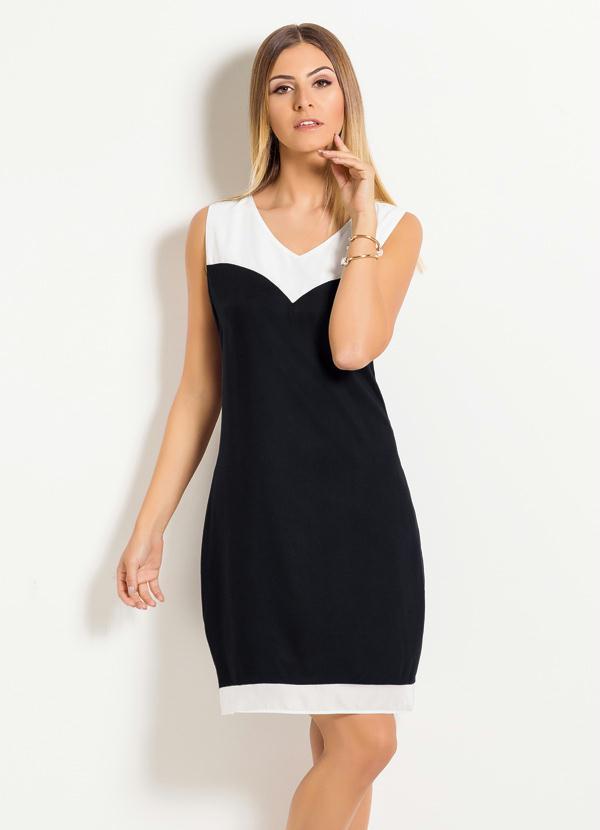 d10d4c476bae Quintess - Vestido Quintess Clássico Preto e Off White - Quintess