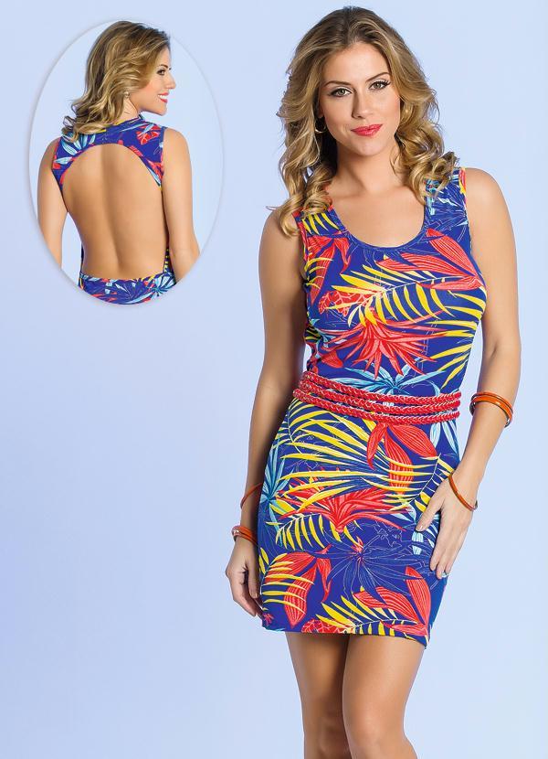 edbf9aad22 Queima estoque - Vestido Decote nas Costas Floral - Queima de Estoque