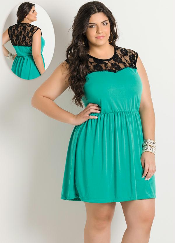 Vestido de festa curto verde tiffany