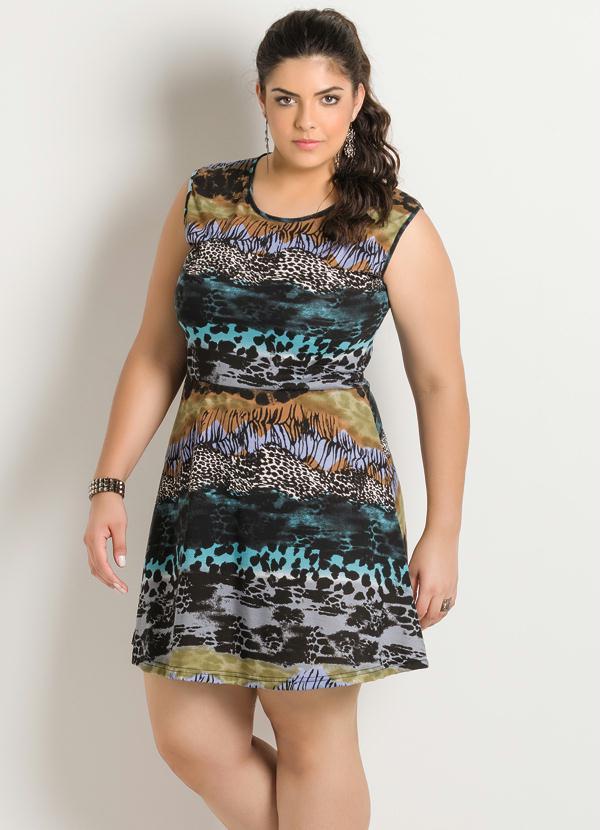 859808458c Marguerite - Vestido Estampa Animal Print Plus Size - Marguerite
