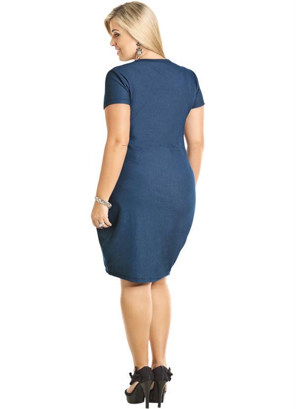 e54f18aff Vestido Jeans Azul com Gola Diferenciada - Marguerite