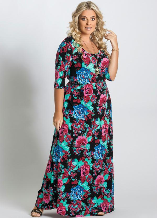 26b718962c49 Marguerite - Vestido Longo Estampa Floral Plus Size - Marguerite