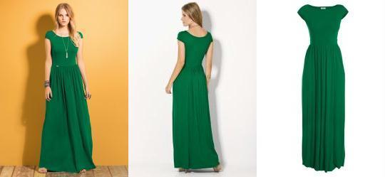2d63aa30e5b8 0.44891074299812317 Vestido Longo Verde com Manguinhas