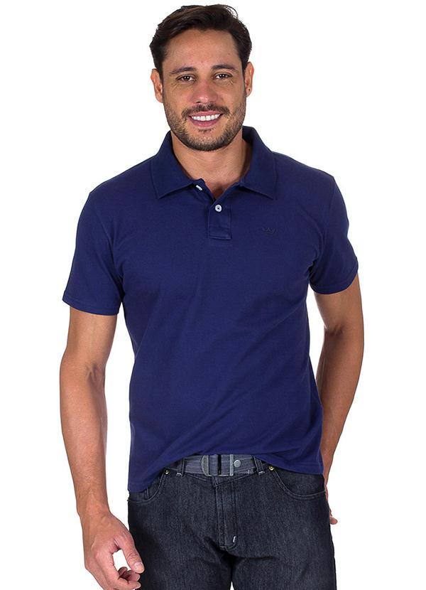 Camisa Polo Masculina Azul Colombo - Camisaria Colombo cfc5f01057197