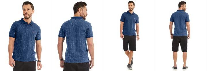 3f2cf00db3 0.0 Camisa Polo Rovitex Azul
