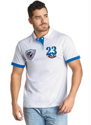 2be5769d7 Camisa Branca Gola Polo - Queima de Estoque