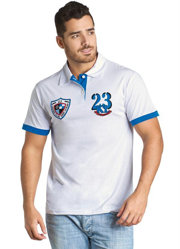 Queima de Estoque - Camisa Branca Gola Polo - Queima de Estoque 1e0529d921b06