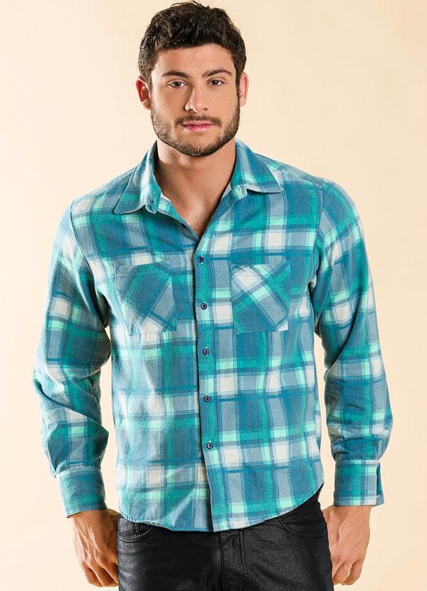cee4e4f0a9 Actual - Camisa Xadrez Azul - Actual