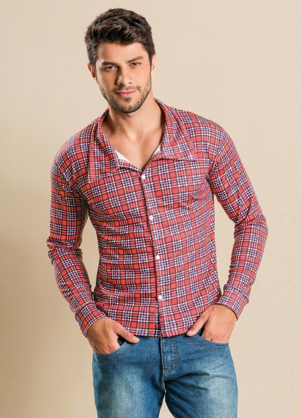 5f5c9f50d7400 Queima de Estoque - Camisa Xadrez Masculina - Queima de Estoque