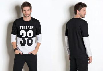 331a95e27 0.0 Camiseta Estampa Villain Preta e Branca. Lista de Desejos