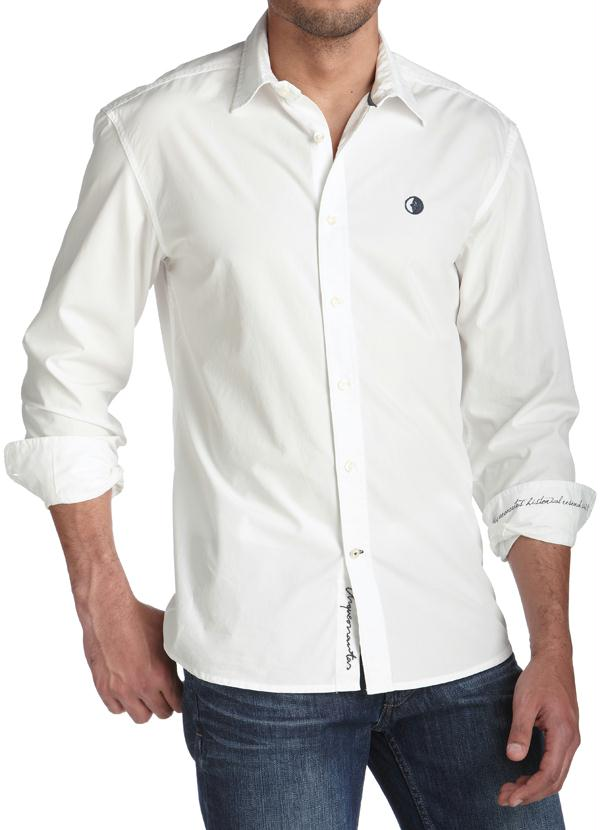 9bd74165f Camisa Masculina Colarinho Social Branca - Marguerite