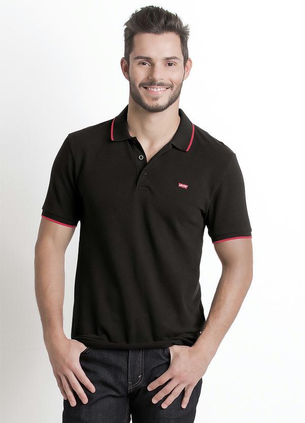 Multimarcas - Camisa Polo Levis Preta - Multimarcas 4af08957825