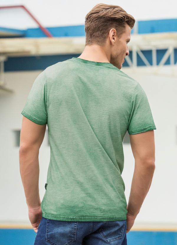 Camiseta Actual Verde Estampado - Actual c484ea721e2cc