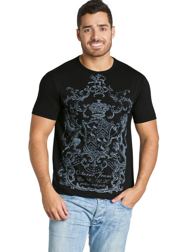 875648911 Camiseta Preta Masculina - Queima de Estoque