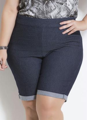 d2a5bab62 Bermuda Jeans Barra Dobrada Plus Size Marguerite