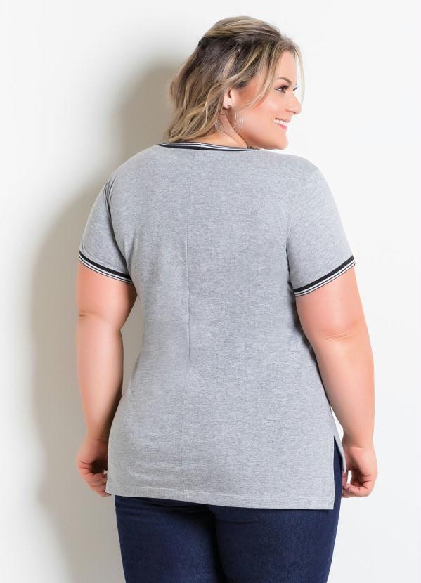 3317d29c4a Marguerite - T-Shirt Mullet Plus Size Mescla Plus Size - Marguerite