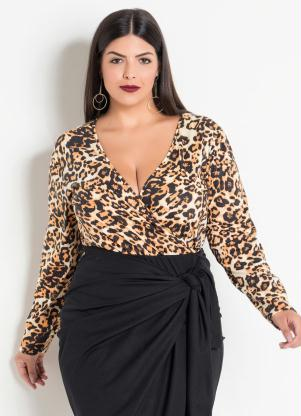 743f197b2 Body Transpassado Onça Plus Size
