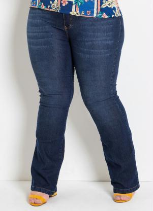 d4ab6e6d6 produto Marguerite - Calça Flare Jeans Plus Size Marguerite