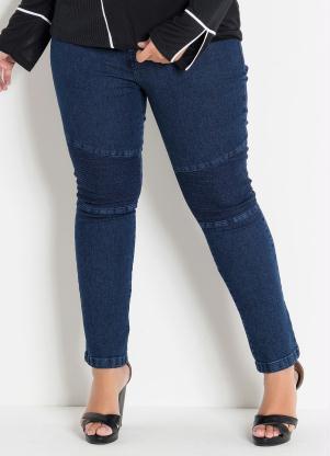 259914912 Marguerite - Calça Jeans Plus Size com Efeitos no Joelho
