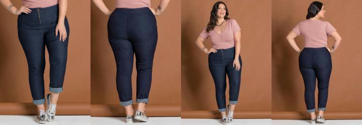 f4a5a5d97 0.5002501010894775 Calça em Jeans Azul Escuro Plus Size Marguerite