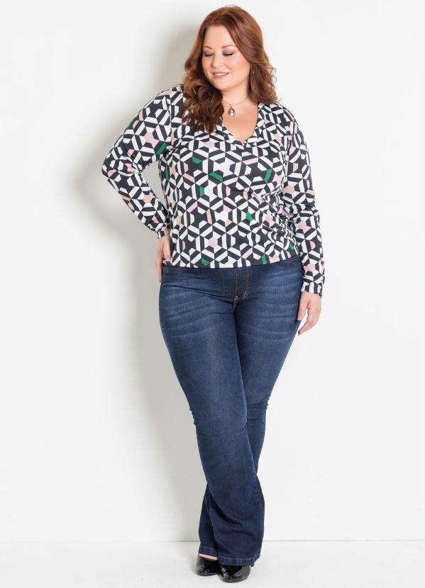 6ae030dc3 Marguerite - Calça Flare Jeans Plus Size Marguerite - Marguerite