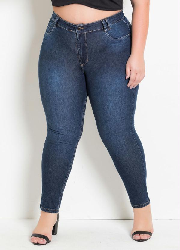 7f5b43f6a0 Sawary jeans - Calça Jeans Cigarrete Plus Size Levanta Bumbum ...