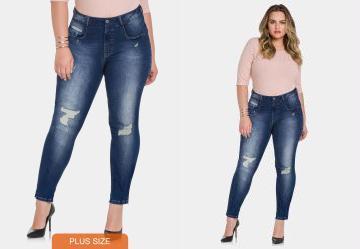 d1f3d44d0 0.0 Calça Jeans com Elastano Jeans Medio