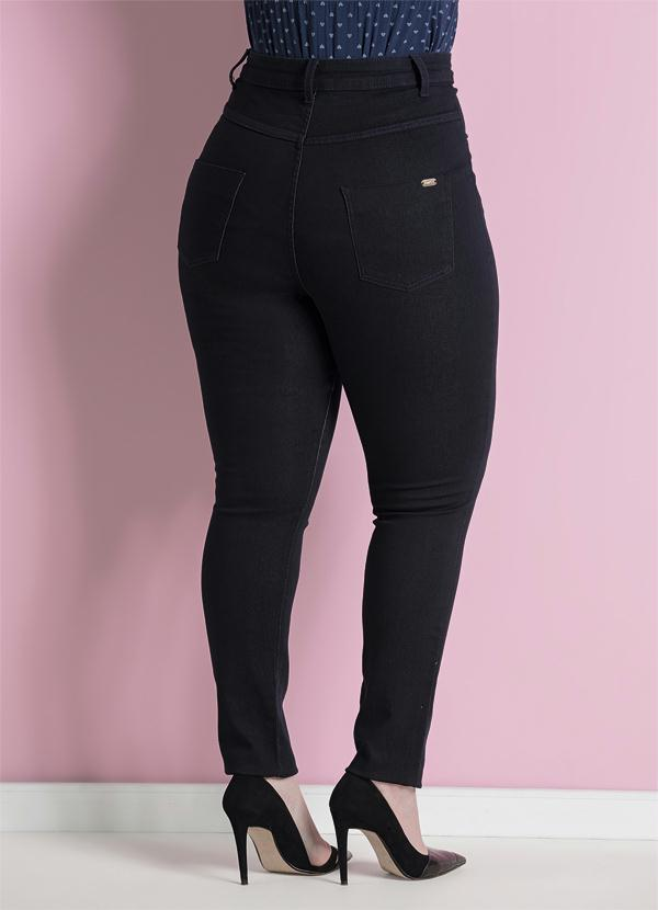 Quintess - Calça Jeans Skinny Marinho Plus Size - Quintess 624c52e38db