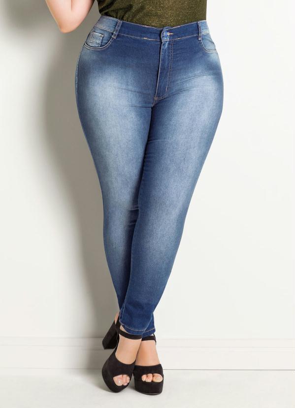 091796010d Sawary jeans - Calça Jeans Sawary Legging Plus Size Azul - Sawary Jeans