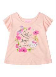 Blusa em Viscose Rosa Hello Kitty Babies