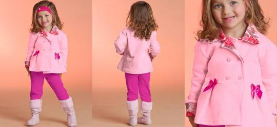ec50d5c33c 0.5951269268989563 Conjunto Bebê Casaco e Calça Rosa e Pink