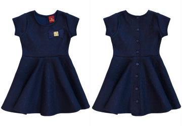 2cdabff52fdb 0.48921075463294983 Vestido Infantil Azul Amandier By Milon