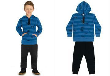 0.0 Conjunto Blusão e Calça Azul Bluemoon Trick Nick fd4dcdb674210
