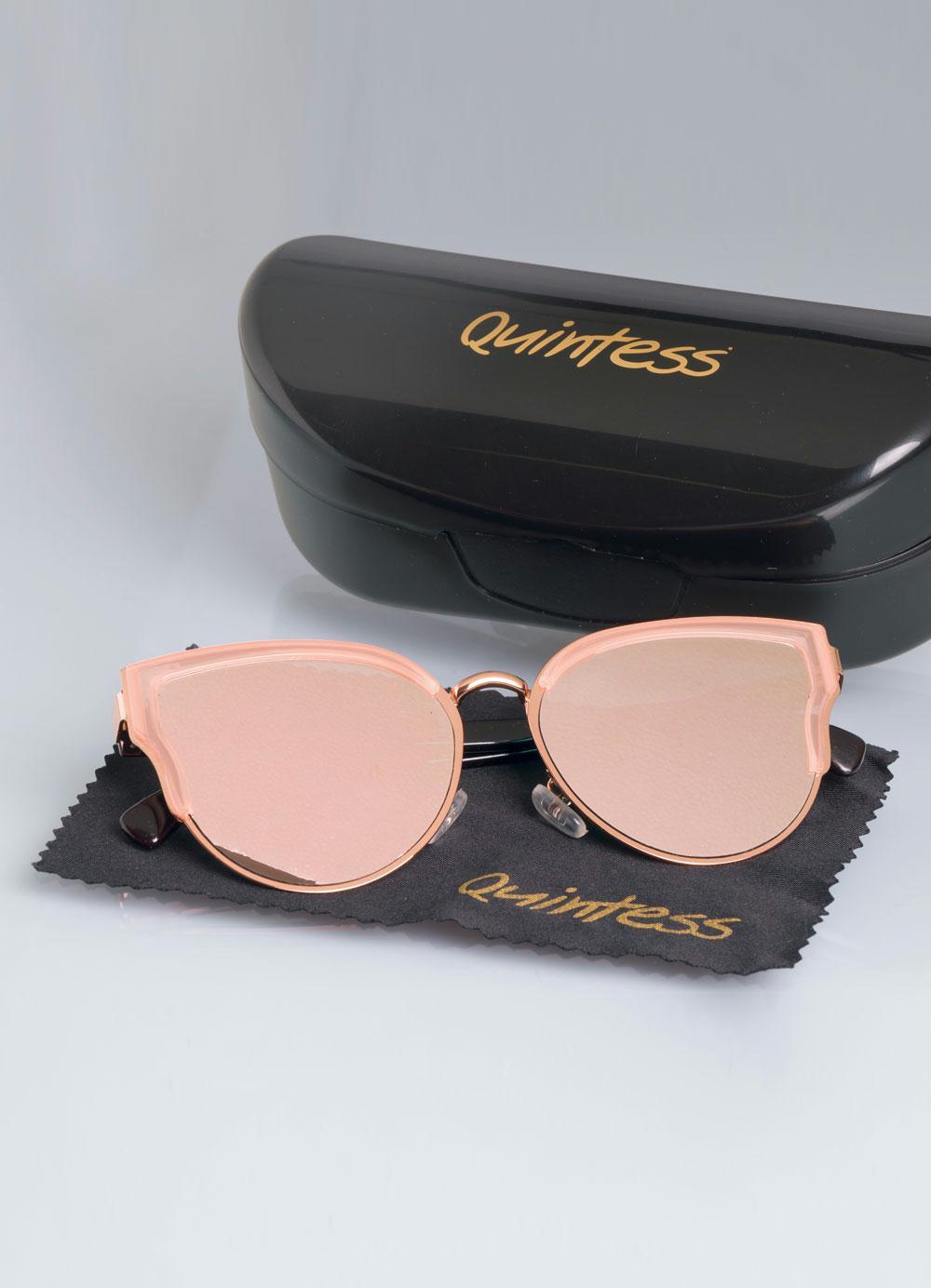 b2d4a7c2c Óculos Espelhado Rosê e Dourado Quintess - Quintess