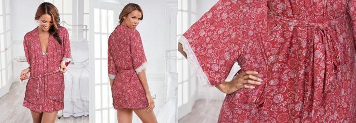 a15e17d91 0.0 Robe Estampado Vermelho