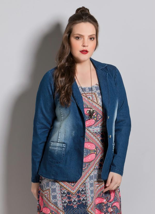adbd7656e0 Blazer Jeans Plus Size - Quintess