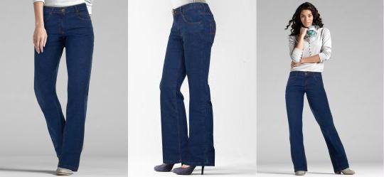 c22b952f6 0.0 Calça Jeans Boot Cut Azul Escuro