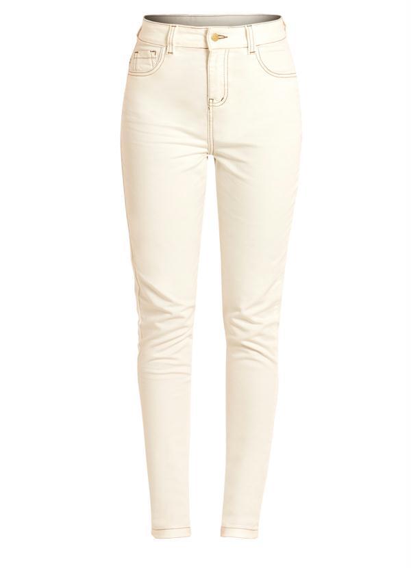56542ebc6 Calça Skinny Branca Cintura Alta - Quintess